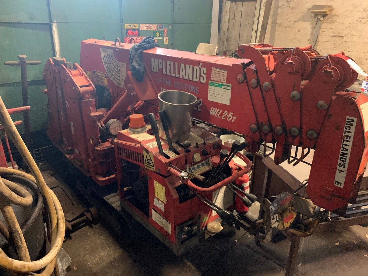 AUCTION CANCELLED: Liquidators Auction – Huge Lifting Equipment Disposal – Crawler Crane, Air Winches, Electric Winches, Electric Chain Blocks, Air Chain Blocks, Hydraulic Jacks, Hydraulic Pumps, Cable Pullers, Bow & D-Shackles, Lifting Chain, and much more!